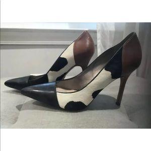 Sam Edelman Hazel Cow Fur Multi Pointed Toe Heel 8